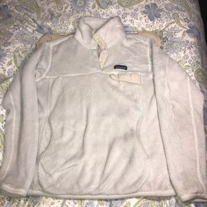 Jackets & Blazers - Patagonia Snap-T Pullover Off-White size Medium